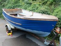 Boat Dinghy GRP 12ft sturdy build