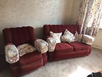 Free two seater sofa and two armchairs, collection only