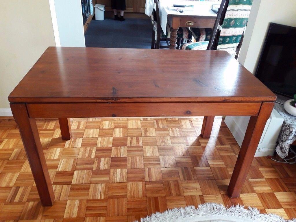 Elegant Solid Pine Wood Wooden Table / Desk