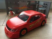 Playmobil Sports / Racing Car Tuning Studio Workshop VGC