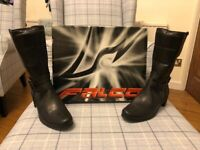 Falco 650 black female leather motorcycle boots