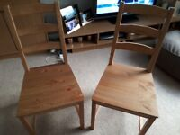Brand new wooden chairs