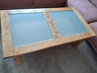 Coffee table, frosted glass top