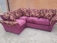 Comfy BRAND NEW corner sofa. Fabulous design.can deliver