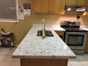 Marble, Granite, Quartz counter to, vanities top table top) good deal