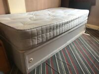Single divan bed with storage & sliding doors