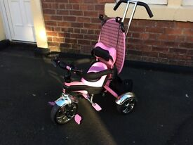 Toddler girls ride on trike 3 wheeler with parent control & pedals