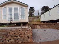 cheap stunning holiday home on a great pitch with sea views at Ladram Bay Holiday Park Devon