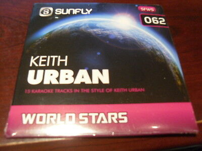 Sunfly World Stars Karaoke Disc Sfws062 Keith Urban Cd G Sealed 15 Tracks