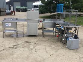 Dadler CF1201A PASS THROUGH DISHWASHER , Pre Rinse Sink & HOBART WASTE DISPOSERS