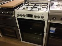 White 60cm gas cooker