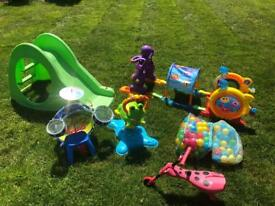 Big bundle of large baby/toddler toys for garden and indoors
