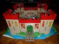 Toy Wooden castle in box