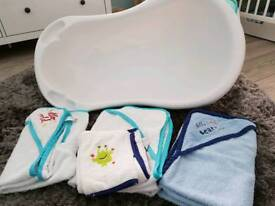 Baby Bath and Hooded Towels
