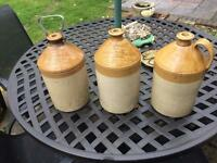 Demi johns Whiskey jugs antique