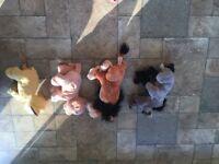 Lion King Cuddly Characters - Ska, Hyena, Simba and Nala