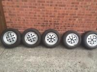Ford Capri 2.8 alloy wheels and tyres