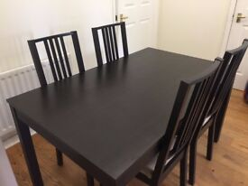 IKEA Dining Table with 4 Chairs Excellent Condition (Reason: Leaving UK) £149.00