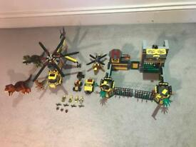 Lego Dino Helicopter and HQ