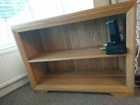 Natural Solid Oak Bookcase