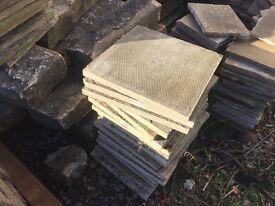 Stone effect concrete slabs