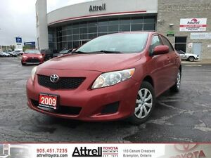 2009 Toyota Corolla CE. Keyless Entry, Air Conditioning, AUX inp