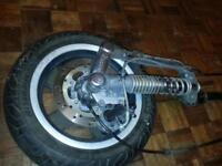 Vespa GTS 300 Parts Forks with Front Wheel, Speedo Cable, Brake Caliper and Brake Cable. suspension