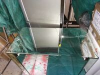 Large Mirror Mirrored Glass Table