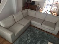 MARKS AND SPENCERS FABRIC CORNER SOFA - MUST GO ASAP - CHEAP DELIVERY - £295