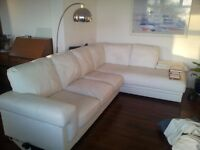 White leather corner sofa for sale