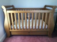 VGC Boori highest quality solid wood baby or child cot sleigh bed. FAST SALE!!!