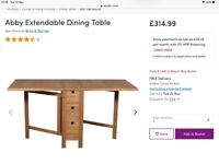 Folding dining table with 6 drawers