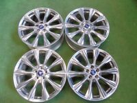 """FORD KUGA, MONDEO, GALAXY, FOCUS, TRANSIT CONNECT C-MAX S-MAX 19"""" ALLOY WHEELS CHROME"""