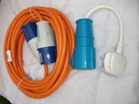 Mains 20m hook up lead for motorhome or caravan