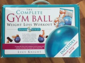Gym Ball Complete weight loss workout book, DVD, gym ball