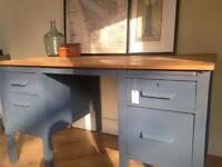 Vintage headmasters desk and chair