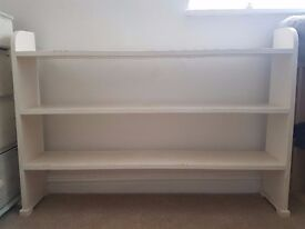 White painted vintage solid wood bookshelves