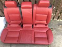 Audi s3 red leather interior
