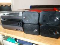 Amplifier 4x speakers and turntable