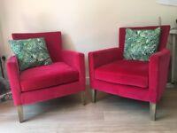 Pink Velvet Armchair (set of two)