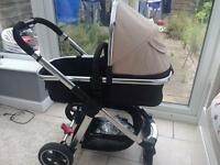 Mothercare journey 3 in 1 pram travel system (silver cross)