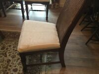 Six Solid Wood Dinning Chairs