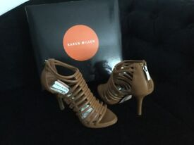 Tan Leather strappy heels