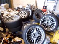 Alloy wheels, x 9 FREE, collection required