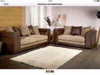 BYRON SOFAS NEW IMPROVED MODEL WITH FOAM FILLED SEAT CUSHIONS CORNER & 3+2 SEATER