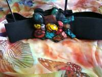 Ladies colourful ornate belt