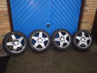 "LEXUS LS430 18"" ALLOY WHEELS - REFURBISHED WITH AS NEW TYRES"