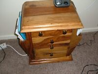 small drawers and magazine rack