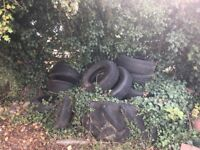 FREE Old Used Tyres. A selection of old used tyres, including a tractor tyre available.