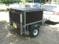 GALVANISED 4 X 4 X 3 BOX TRAILER 500KG WITH DROPTAIL....
